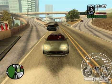 Spyder Cambriocorsa pour GTA San Andreas sur la vue arrière gauche