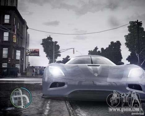 Koenigsegg Agera pour GTA 4 Vue arrière