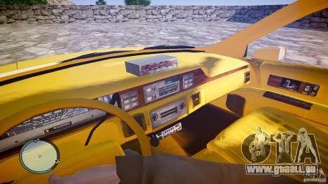 Chevrolet Caprice Taxi pour GTA 4 Vue arrière