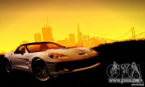 Chevrolet Corvette ZR-1 pour GTA San Andreas salon