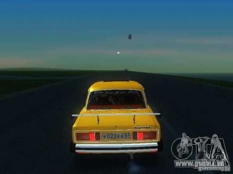 SPARKO VAZ 2106 pour GTA San Andreas sur la vue arrière gauche