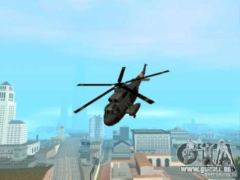 Enterable Leviathan pour GTA San Andreas sur la vue arrière gauche