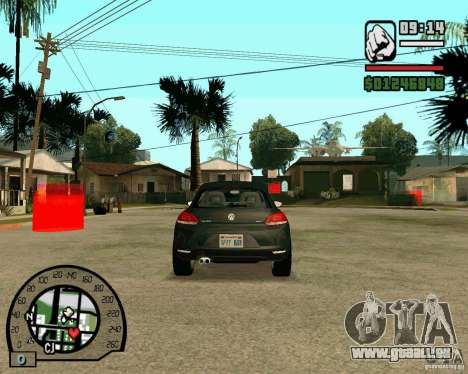 Volswagen Scirocco pour GTA San Andreas vue arrière