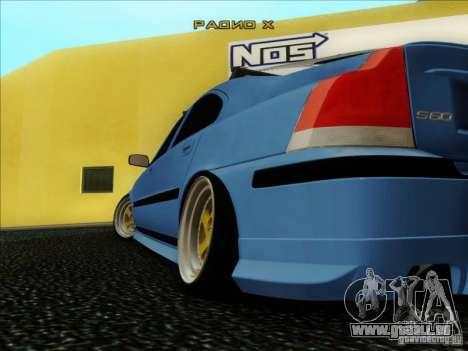 Volvo S60 pour GTA San Andreas vue intérieure