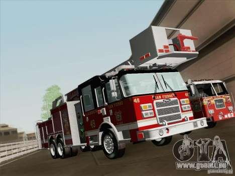 Pierce Rear Mount SFFD Ladder 49 pour GTA San Andreas roue