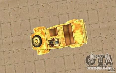 Kuebelwagen v2.0 desert für GTA San Andreas rechten Ansicht
