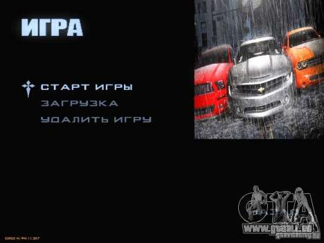 Démarrer écran et menu monde Mishin v2 pour GTA San Andreas septième écran