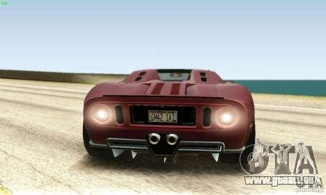 Ford GTX1 Roadster V1.0 pour GTA San Andreas vue arrière