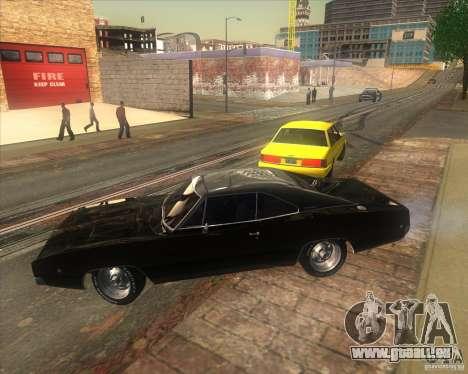 Dodge Charger RT 1968 pour GTA San Andreas sur la vue arrière gauche