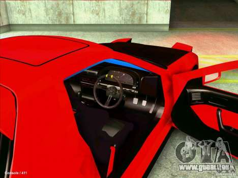 Mazda RX7 pour GTA San Andreas vue intérieure