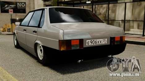 VAZ-21099 pour GTA 4 Vue arrière de la gauche