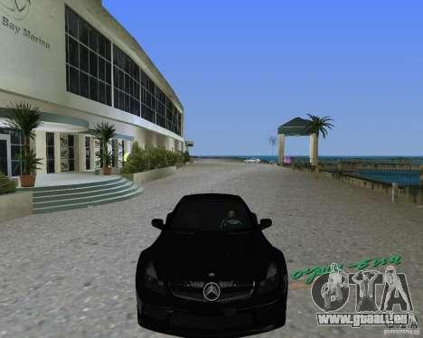 Mercedess Benz SL 65 AMG Black Series pour GTA Vice City sur la vue arrière gauche