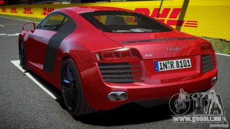 Audi R8 V8 2008 v2.0 pour GTA 4 est une gauche