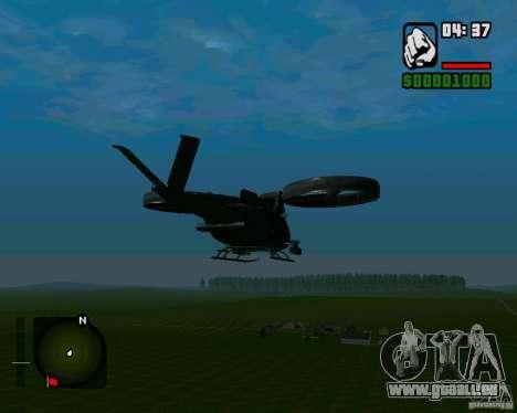 SA-2 Samson pour GTA San Andreas sur la vue arrière gauche