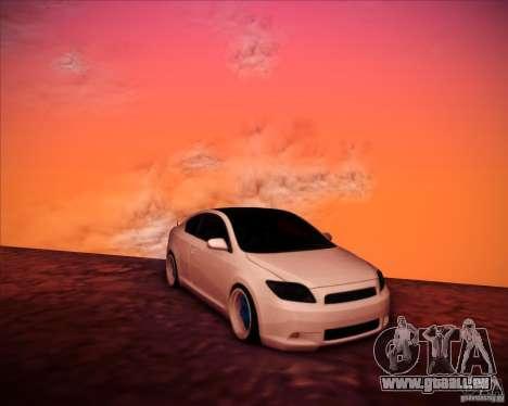 Scion tC Blue Meisters pour GTA San Andreas vue de côté