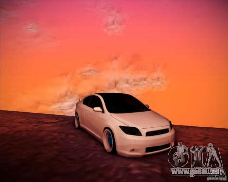 Scion tC Blue Meisters für GTA San Andreas Seitenansicht