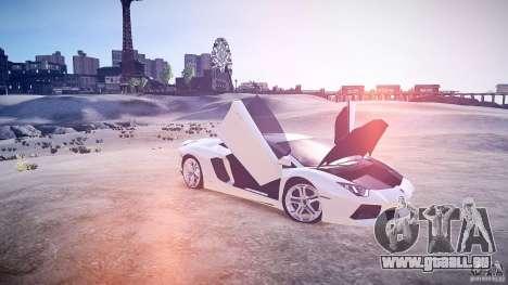 Lamborghini Aventador LP700-4 v1.0 pour GTA 4 est une vue de l'intérieur