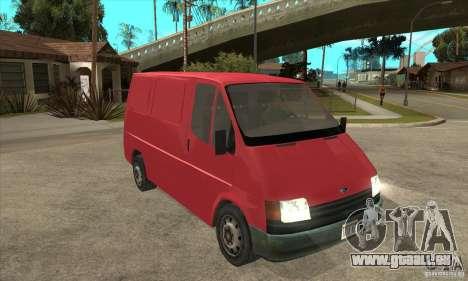 Ford Transit pour GTA San Andreas vue intérieure
