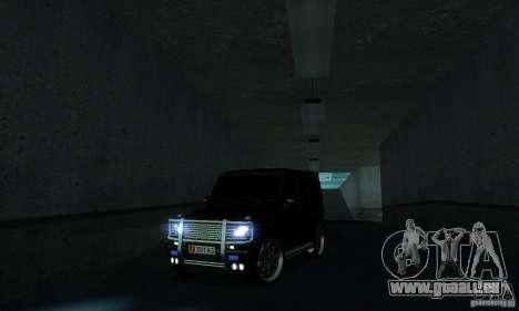 Mercedes Benz G500 ART FBI pour GTA San Andreas vue intérieure
