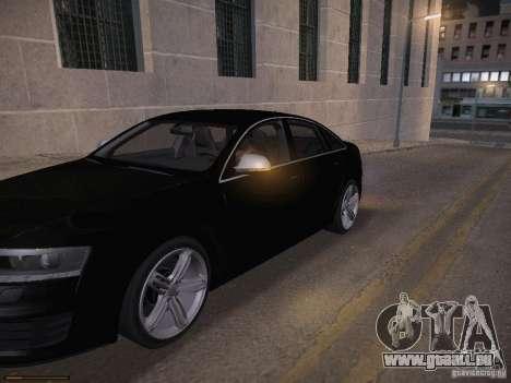 Audi RS6 2009 für GTA San Andreas Innen