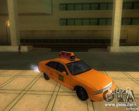 Chevrolet Caprice Taxi 1991 pour GTA San Andreas vue de droite