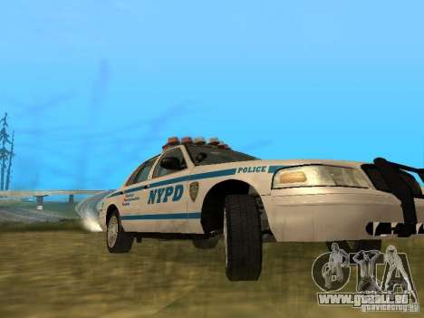 Ford Crown Victoria NYPD Police pour GTA San Andreas vue intérieure