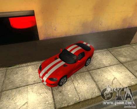Dodge Viper GTS Coupe pour GTA San Andreas vue arrière