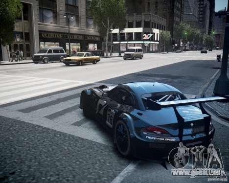 BMW Z4 GT3 2010 pour GTA 4 est une vue de l'intérieur