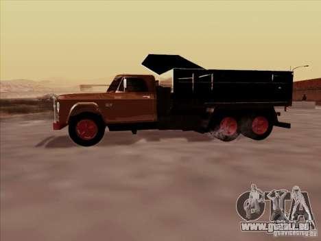 Dodge Dumper pour GTA San Andreas vue arrière