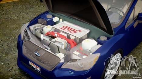 Subaru Impreza Sedan 2012 pour GTA 4 est un droit