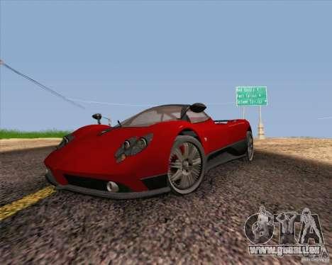 Pagani Zonda F v2 für GTA San Andreas Rückansicht