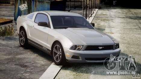 Ford Mustang V6 2010 Premium v1.0 pour GTA 4 est une vue de l'intérieur