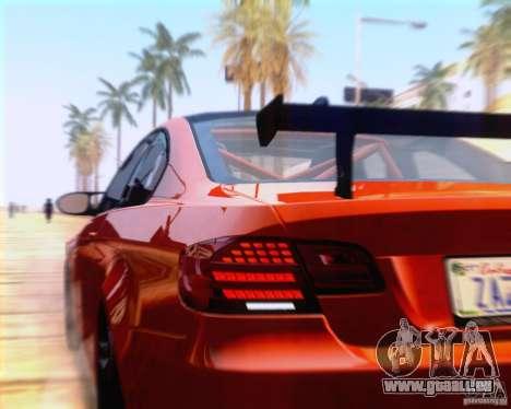 BMW M3 GT-S 2011 pour GTA San Andreas vue arrière