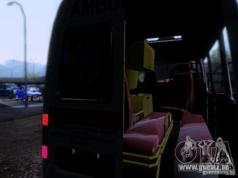 Gazelle 2705-Ambulanz für GTA San Andreas Innenansicht