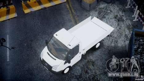 Ford Transit Pickup 2008 pour GTA 4 est une vue de dessous