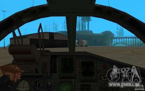 Le Su-34 pour GTA San Andreas vue arrière