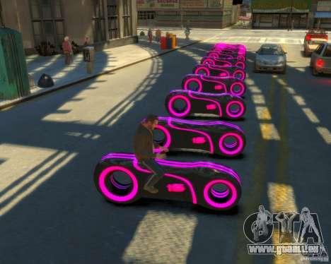 Motorrad des Throns (neonpink) für GTA 4 hinten links Ansicht