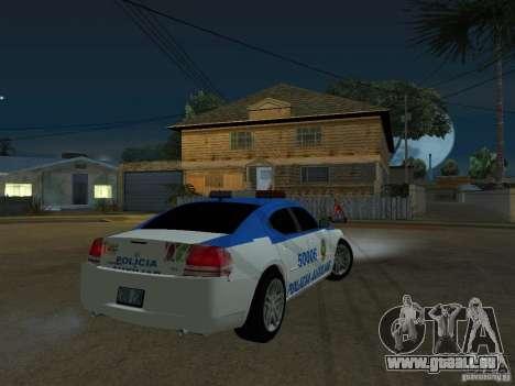 Dodge Charger Police pour GTA San Andreas vue de droite