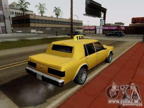 Greenwood Taxi pour GTA San Andreas laissé vue