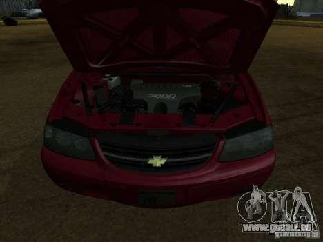 Chevrolet Impala 2003 pour GTA San Andreas sur la vue arrière gauche