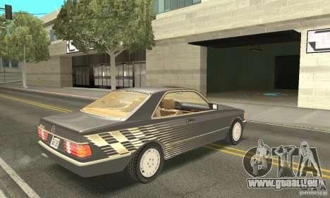 Mercedes-Benz W126 560SEC pour GTA San Andreas vue de côté