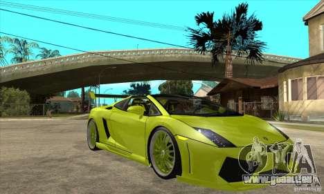 Lamborghini Gallardo LP560-4 Hamann für GTA San Andreas Innenansicht