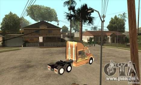 Peterbilt 387 peau 3 pour GTA San Andreas vue arrière