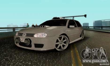 Volkswagen Golf 4 für GTA San Andreas zurück linke Ansicht