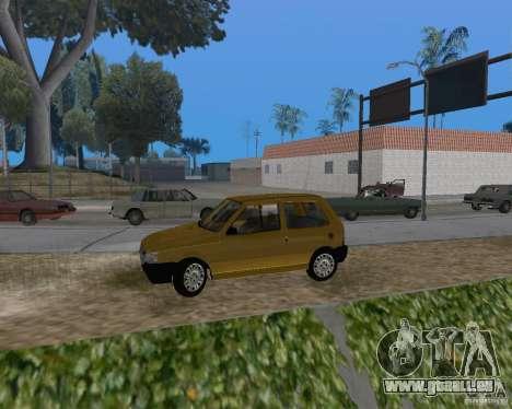 Fiat Mille Fire 1.0 2006 pour GTA San Andreas laissé vue