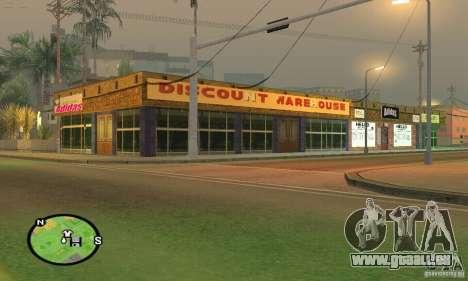 Boutique ADIDAS pour GTA San Andreas troisième écran