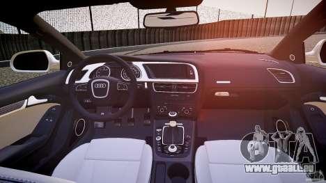 Audi S5 Hungarian Police Car white body pour GTA 4 vue de dessus