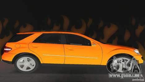 Mercedes-Benz ML 500 pour GTA Vice City vue arrière