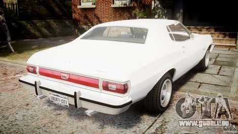 Ford Gran Torino 1975 v1.1 pour GTA 4 Vue arrière de la gauche