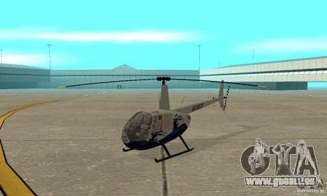 Robinson R44 Raven II NC 1.0 4 de la peau pour GTA San Andreas laissé vue